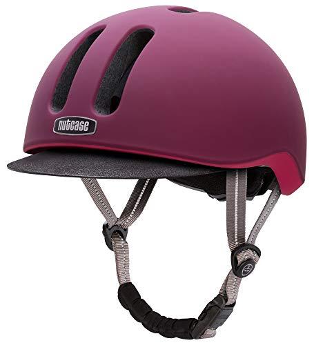 Nutcase NC004.Gar.L Unisex - Erwachsene Helm, Burgunderrot