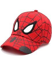 WAZHX Gorra De Béisbol Bordada para Niños, Gorra De Spider Man para El Sol, Gorra De Malla De Dibujos Animados Ajustable, Gorras De Hip-Hop, Sombreros De Verano Transpirables para Niños