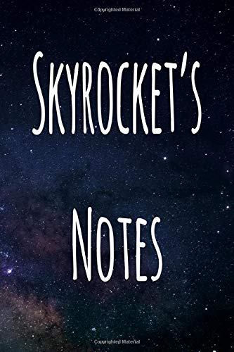 Skyrocket's Notes: Personalised Name Notebook - 6x9 119 page custom notebook- unique specialist personalised gift!