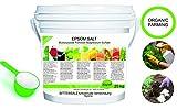 bleu & marine Bretania Saco de Abono Ecológico para Huerto Abono 100% Orgánico Sales de Epsom (Sulfato de Magnesio) Fertilizante DE MAGNESIO Huerta 25 kg