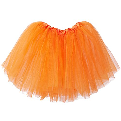 My Lello Little Girls Tutu 3-Layer Ballerina Orange (10 mo - 3T)