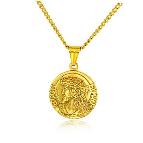 1pc Stylish Necklace Men Necklace Jewelry Men Accessories Necklace for Men, Golden