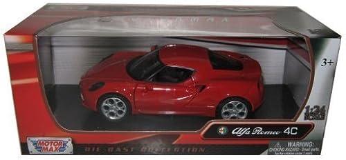 calidad fantástica Motormax Alfa Romeo 4C 1 24 Scale Diecast Diecast Diecast Model Car rojo by Motormax  autorización