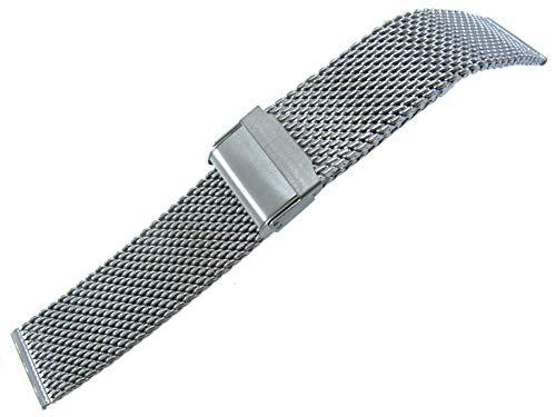 JRRS7777 20mm Unisex Armbanduhr Mesh Armband Edelstahl Titan Glänzend 1020PT