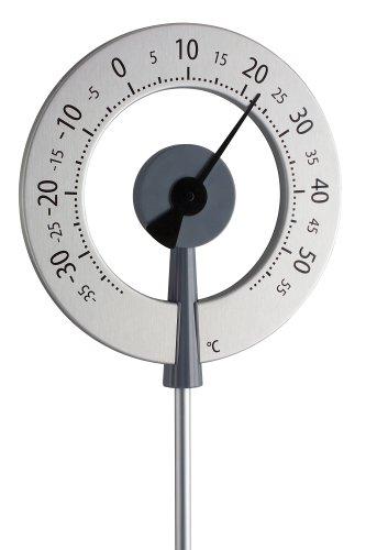 TFA Dostmann Lollipop analoges Design-Gartenthermometer, 12.2055.10, wetterfest, mit großen Ziffern