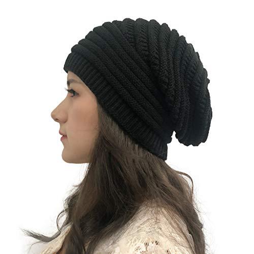 Lazzboy Mütze Damen Wintermütze Frauen Herbst Winter Outdoor Solid Splice Hüte...
