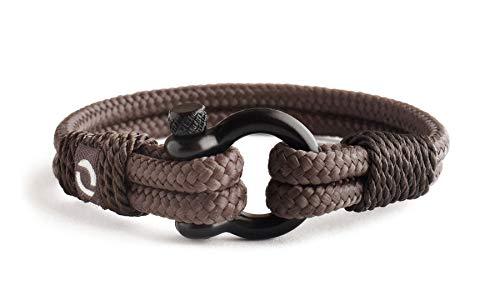 Herren Seilarmband - Paracord Männer-Armband, Wasserfest und Hautfreundlich - Edelstahl-Verschluss in Silber