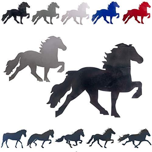 netproshop Verschiedene Isländer - Aufkleber Autoaufkleber Pferdeaufkleber Tölter, Farbe:Schwarz, Groesse:M