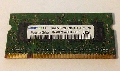 Notebook Arbeitsspeicher Samsung 1GB 2Rx16 PC2-6400S-666-12-A3 M470T2864EH3-CF7 DDR2 SDRAM