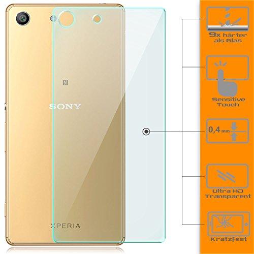zanasta Glass Schutzfolie kompatibel mit Sony Xperia M5 Folie aus Gehärtetem Glas | Glasfolie Schutzglas Rückseite