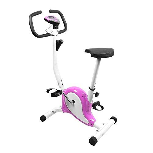 OUTAD Cyclette da Allenamento Home Trainer Exercise Bike Display LCD Confortevole Spugna Regolabile Altezza Sella Indoor Trainer Bike
