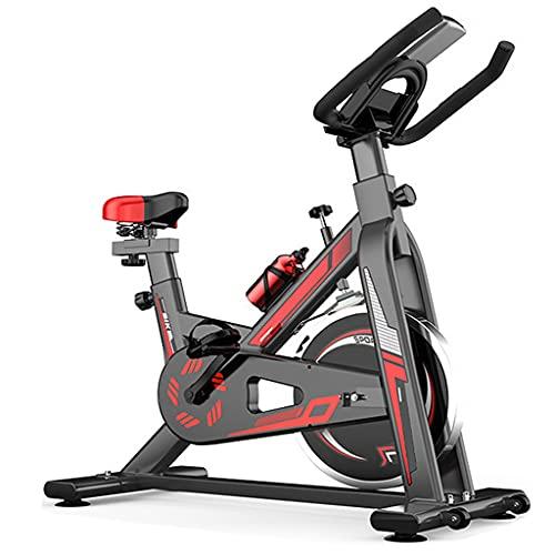 WOERD Bicicleta de Spinning, Bicicleta Indoor Ergonómica con Disco de Inercia de 6 Kg, Bici de Entrenamiento Fitness con Sillín Ajustable, Pulsómetro y Pantalla LCD, Carga Máxima 150 Kg