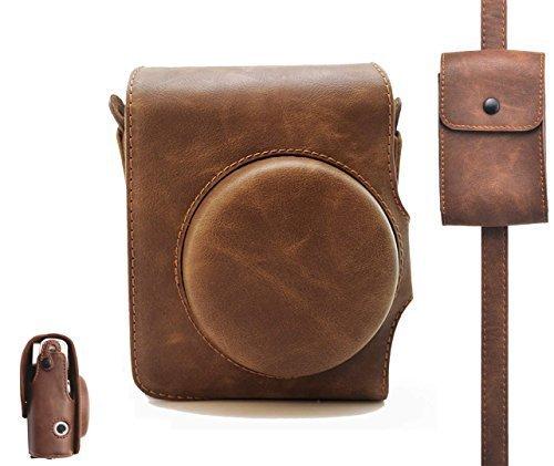 Groovy PU leather Fuji mini case borsa per Fujifilm INSTAX mini 90Instant film fotocamera con tracolla di Hellohelio–nero
