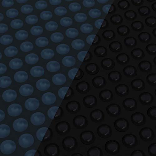 Tidyard Treibende Pool Solarplane Poolabdeckung Solarabdeckung Solarfolie Poolheizung Wärmeplane PE 381 cm Schwarz und Blau
