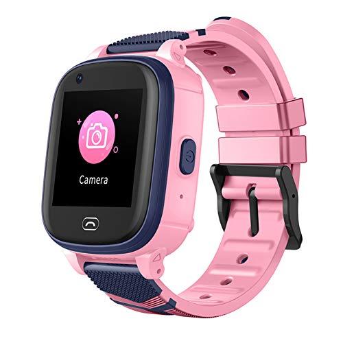 B&H-ERX Kinder Uhr, IPX7 wasserdichte 4G Kinder Smart Watch für IOS Android, mit Video Voice Chat Payment SOS 700MAH GPS Tracker Watch, Perfekte Geburtstag für Jungen Mädchen,Rosa