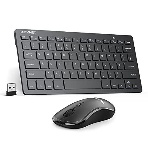 TECKNET Wireless Keyboard and Mouse Set, Ergonomic 2.4G Cordless USB...