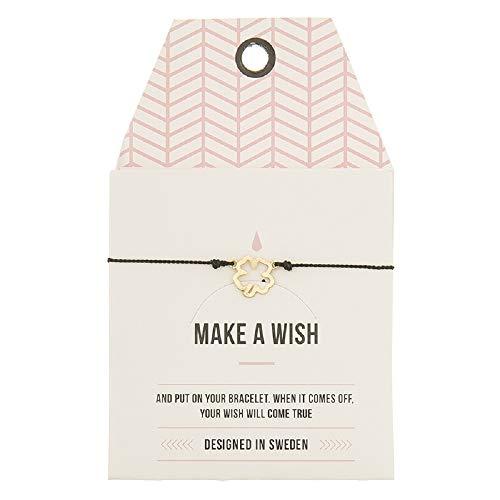Mint Clover Make a Wish - Pulsera de reloj, color dorado