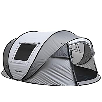 EchoSmile Camping Instant Tent 2 to 8 Person Pop Up Tent Water Resistant Dome Tent Easy Setup for Camping Hiking and Outdoor Portable Tent with Carry Bag for 4 Seasons  White&Gray 5-8 Person