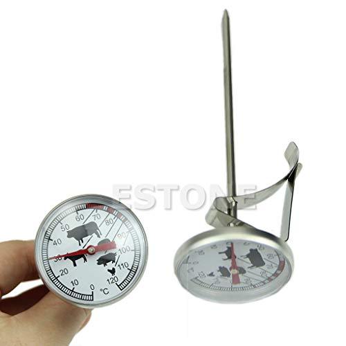 Yiwann Keuken Koken Thermometer, RVS Instant Read Probe Thermometer BBQ Voedsel Koken Vleesgaas