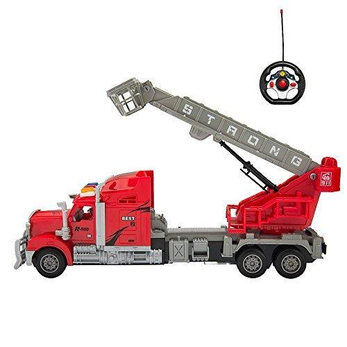 MyGoToDeals Red RC Big Rig Bucket Boom Semi Trailer Truck (14.5
