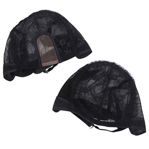 Artibetter 2 Pcs Élastique Perruque Maille Filets Portable Perruque Résille Capuchons De Couverture De Coiffure Perruque Fabricant Net Snoods pour Adultes