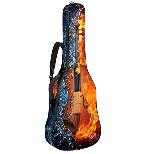 Estuche para guitarra 42.9 pulgadas guitarra acústica en estilo moderno estuche impermeable para guitarra mochila para guitarra acústica Guitarra de fuego de agua 42.9x16.9x4.7 in