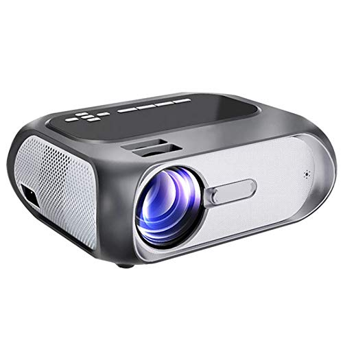 XFF Proyector Inteligente WiFi, Proyectores Portátiles Inalámbricos, Compatible con Full HD 1080P, Corrección Trapezoidal, Pantalla 40-200', Compatible con HDMI, USB, AV, IR para Cine en Casa