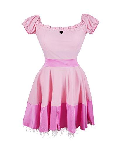 Prinzessin Peach schickes Kleid Kostüm - beinhaltet pinkes Prinzessinnenkleid, Diadem und ein Paar lange weiße Handschuhe - Dornröschen Kleid oder Prinzessin Peach Kleid für Partys - EU Größen 36-42 …