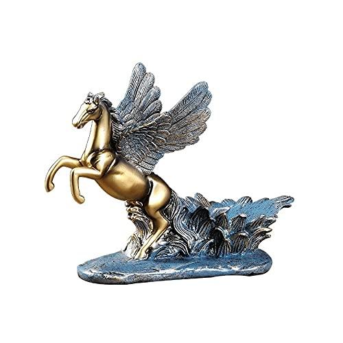 Pegasus vino estante libre Permanente - Caballo con alas Titular de botella de vino Talleres Azules Tablero de vino Tablero de vino Rack Estante de estilo rústico Racks Encimera Decoración Organizador
