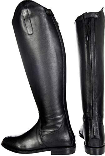 HKM, Reitstiefel -Italy-,soft Leder, Normal/Extra Weit, Stivali da equitazione, Uomo, Nero, 43 EU