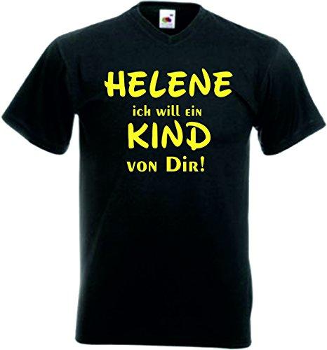 Helene Kinder T-Shirt Motiv126 - Kinder - Schwarz/Gelb - 116
