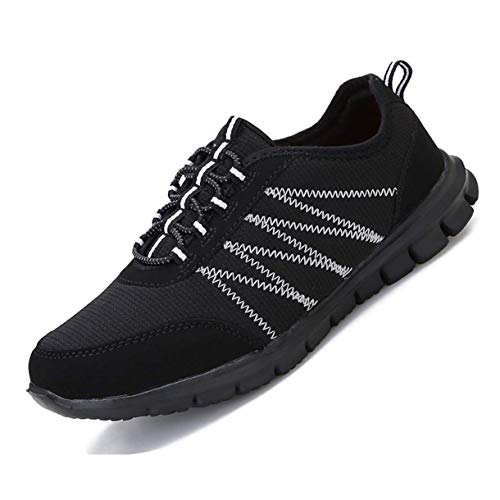 Pt&Hq Casual Lightweight Walking Shoes Comfortable Slip On Running Sneakers for Women Black 10