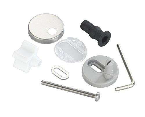 WENKO 290222100 Fix-Clip Befestigung für Easy-Close WC-Sitze - WC-Sitz Befestigungsersatz-Set, Edelstahl rostfrei, Matt
