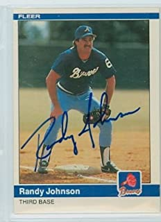 Randy Johnson AUTOGRAPH 1984 Fleer #183 Atlanta Braves