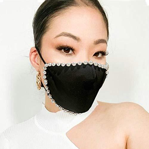 Salliy Rhinestone Mesh Mask Sparkly…