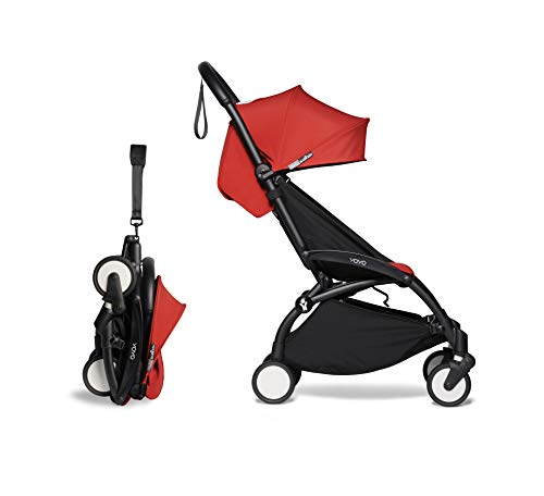 Babyzen YOYO² buggy 6+ rot Gestell schwarz