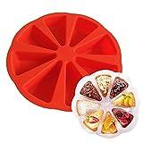 Silicone Bake ware Grand moule pour moule à gâteau à cavité carrée de 8 triangles, 27x27x5 cm (couleur aléatoire)