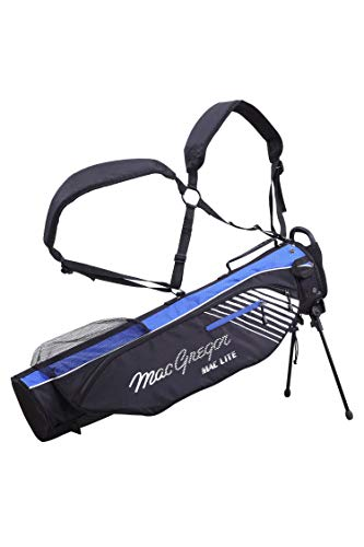 MacGregor Mactec 4.0 Sac de Golf à Rabat avec Support Noir Bleu Roi Taille Unique
