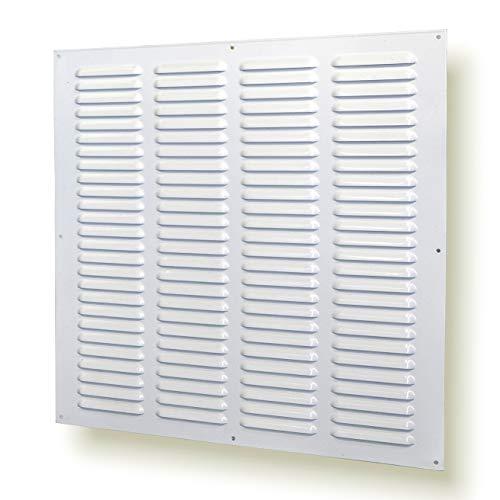 Rejilla de ventilación metálica (40 x 40 cm), color blanco