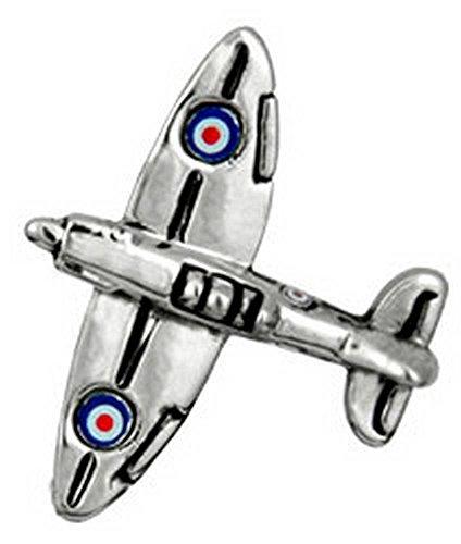 David Van Hagen Spitfire Fighter Rhodium cravate Tac de