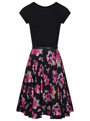 Pussy Deluxe Hawaii Smart Pettycoat Dress schwarz, Größe:3XL