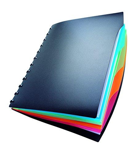 Durable 243501 Sichtbuch Duralook Style (inkl. Register und 20 Sichthüllen A4, 257 x 310 mm) schwarz