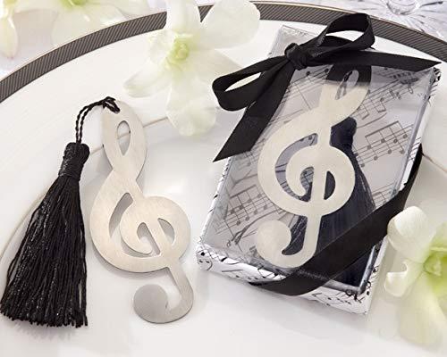 Vasara Segnalibro a forma di nota musicale, dettagli originali per invitati di matrimonio, regali di Comunione e ricordi per compleanni dei bambini