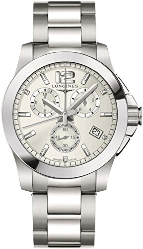 Longines L36604766 - Reloj de cuarzo para hombre, con correa de acero inoxidable, color plateado