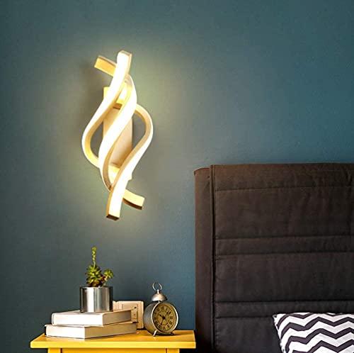 Moderno Applique da Parete, 16W LED Lampada da Parete, Lampada a Muro per Bagno Lampada Soggiorno Camera da Letto Scale Corridoio Luce Notturna 3000K (Bianco Caldo)