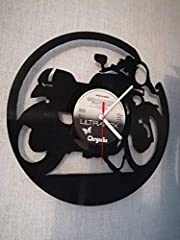 WALL CLOCK VINYL MUFFLER WITH MOTORCYCLE MOTO UPCYCLING DESIGN WATCH WALL DECOR VINTAGE WATCH WALL DECORATION RETRO WATCH MADE IN GERMANY - CAFE RACER #1