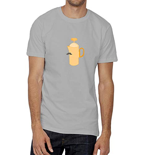 French Hot Moustache Coffee_005457 T-Shirt Birthday Ugly Christmas Shirt Gift for Him LG Man Grey