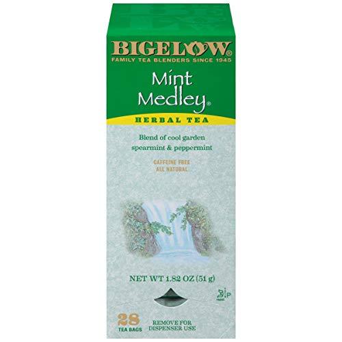 Bigelow Mint Medley Herbal Tea Bags 28-Count Box (Pack of 1) Mint Tea Bags Peppermint & Spearmint Herbal Tea All Natural Gluten Free