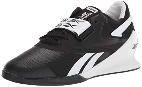 Reebok mens Legacy Lifter II, Black/White/True Grey, 11 M US