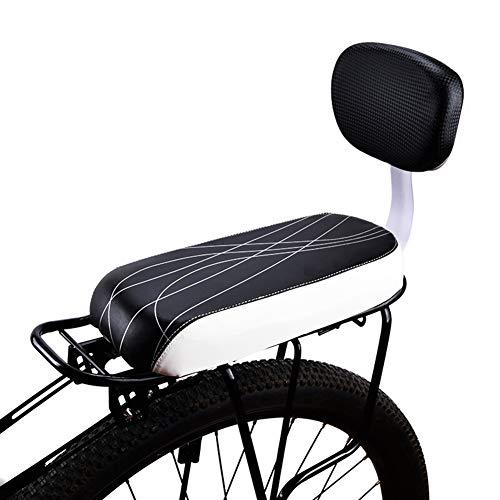 YOUGL Asiento de Bicicleta para bebé, con Respaldo Asiento de Bicicleta para niños Cojín para Bicicleta de Ciudad Asiento de Seguridad para niños Asiento Trasero Parte Adicional